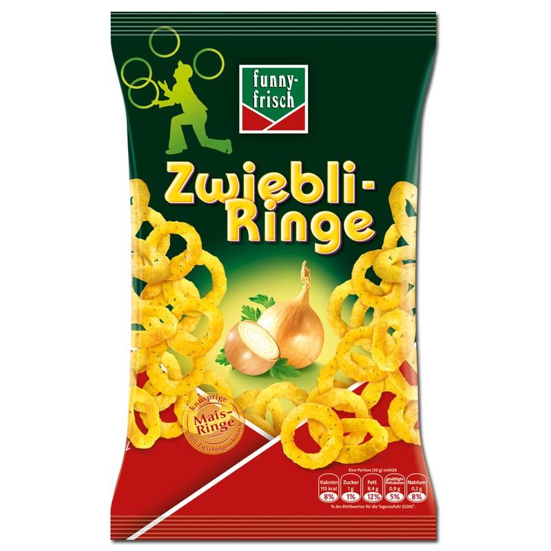 Funny Frisch Zwiebli-Ringe 80g, Zwiebelringe, 14 Beutel Knabberartikel ...