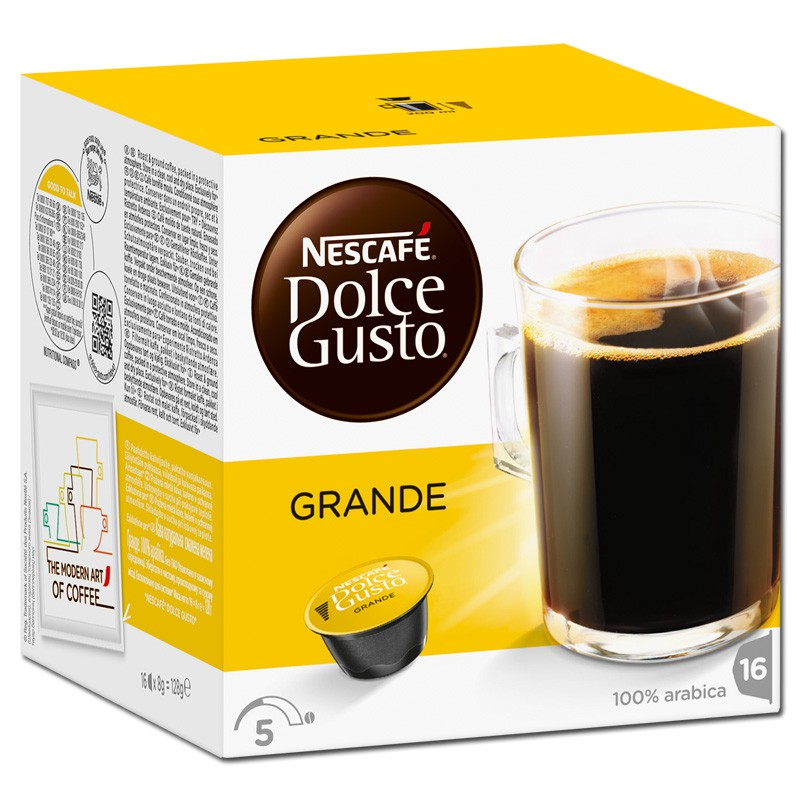 dolce gusto caff grande kaffee 16 kapseln kaffee kaffeepads und kaffeekapseln nescafe dolce gusto. Black Bedroom Furniture Sets. Home Design Ideas