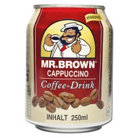 Mr. Brown Cappuccino Coffee 250ml Kaffee-Getränk 24 Ds
