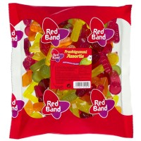 Red Band Fruchtgummi Assortie, Weingummi Mix 1 Kg Btl