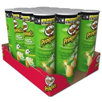 Pringles Sour Cream Onion Chips Dose 190g, 18 Stück