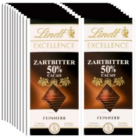Lindt Excellence Zartbitter 50% Cacao 100g, 20 Tafeln