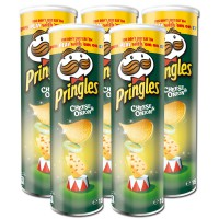 Pringles Cheese and Onion Chips 190g Dose, 5 Stück