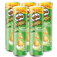 Pringles Sour Cream Onion Chips Dose 190g, 5 Stück