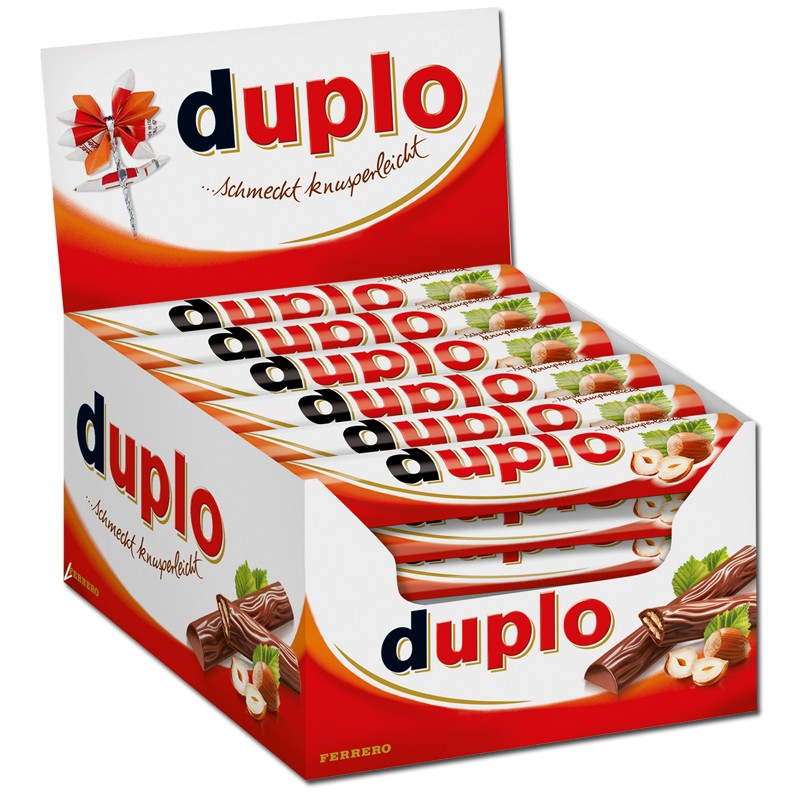 Ferrero duplo riegel schokolade 40 riegel riegel ferrero schokoriegel - Adventskalender duplo ...