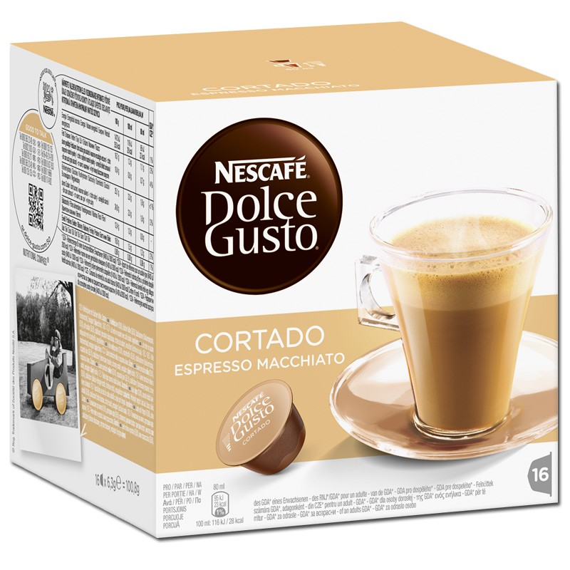 dolce gusto cortado espresso macchiato 16 kapseln kaffee kaffeepads und kaffeekapseln nescafe. Black Bedroom Furniture Sets. Home Design Ideas