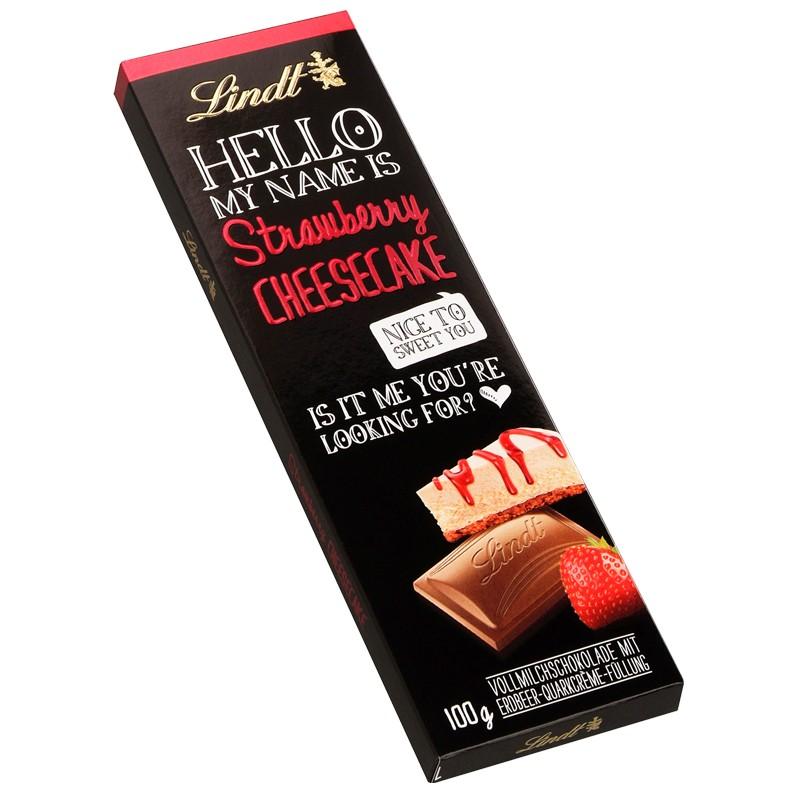 lindt hello strawberry cheesecacke schokolade 12 tafeln schokolade tafeln lindt schokoladen tafel. Black Bedroom Furniture Sets. Home Design Ideas