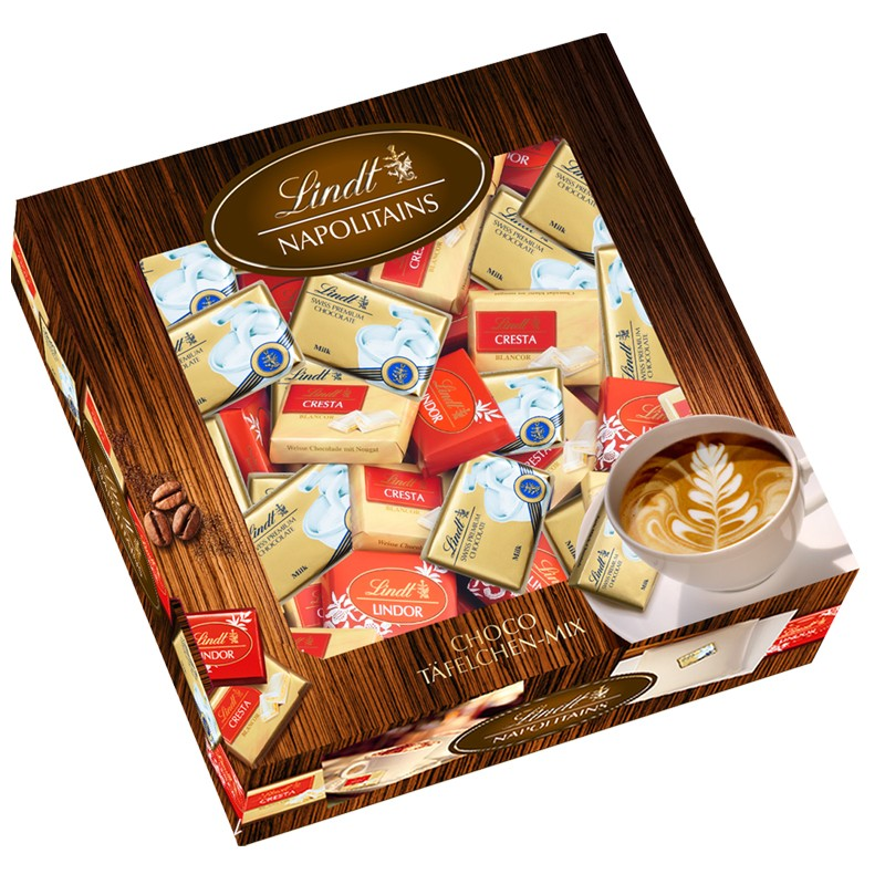 lindt napolitains mix 792g schokolade praline schokolade tafeln schoko minis naps. Black Bedroom Furniture Sets. Home Design Ideas