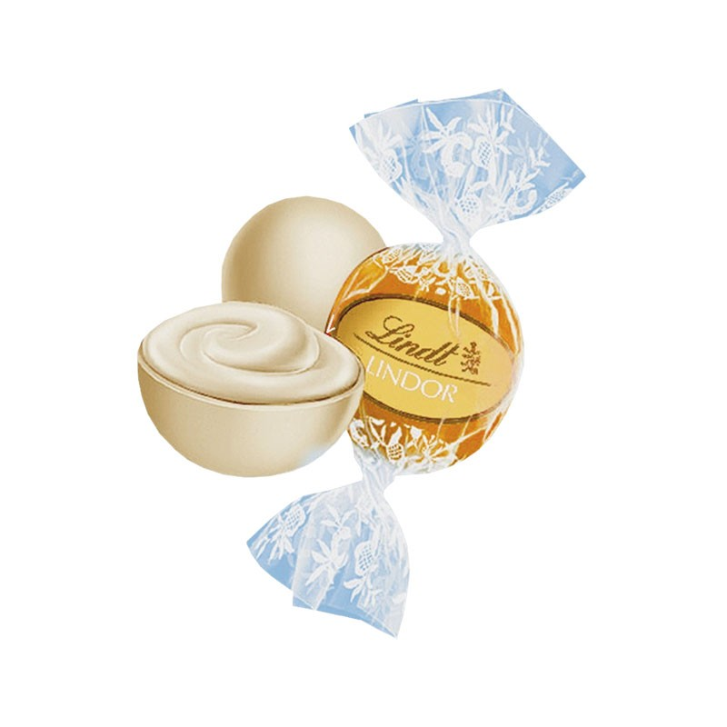 lindt lindor kugeln weiss praline 136g beutel 8 st ck schokolade pralinen lindt pralinenpackungen. Black Bedroom Furniture Sets. Home Design Ideas