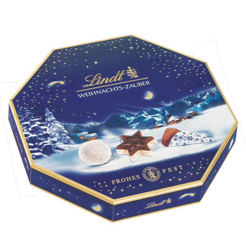 lindt weihnachts zauber pralinen 100g 8 packungen. Black Bedroom Furniture Sets. Home Design Ideas