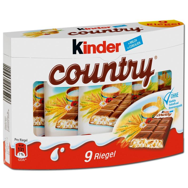 Kinderschokolade Riegel : Ferrero kinder country riegel schokolade