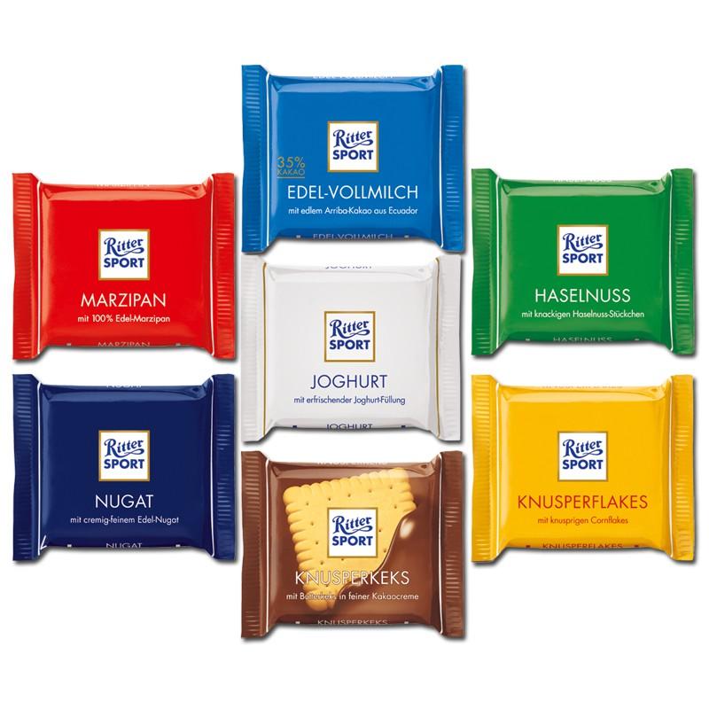 Ritter Sport Mini, Schokolade, 84 Tafeln