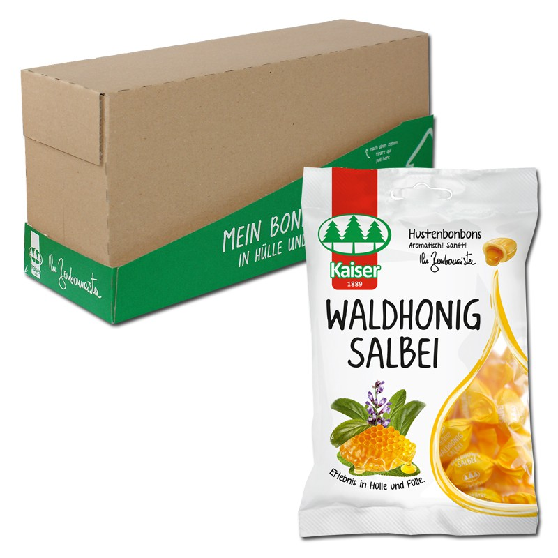 kaiser waldhonig salbei bonbons 90g 18 beutel bonbons hustenbonbon kaiser halsbonbon. Black Bedroom Furniture Sets. Home Design Ideas